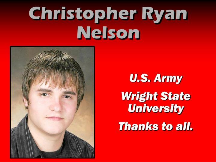 Christopher Ryan Nelson