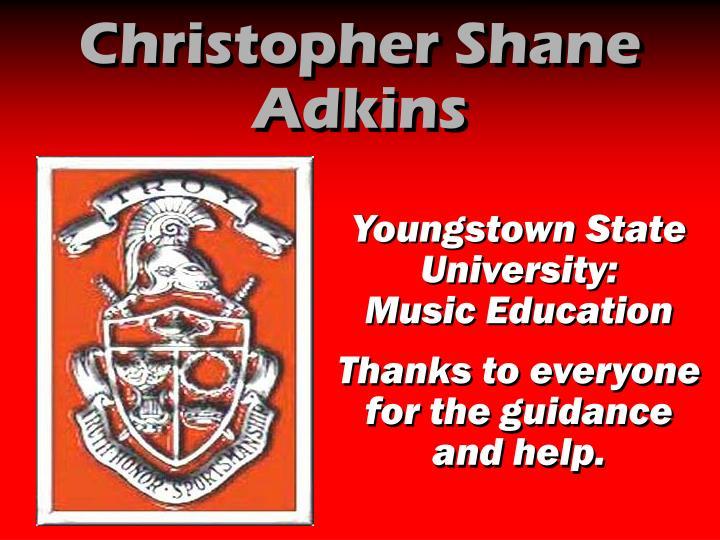 Christopher Shane Adkins