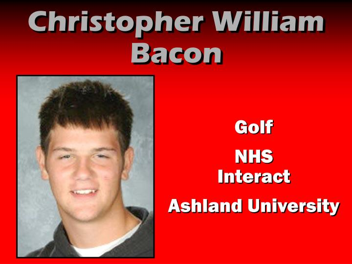 Christopher William Bacon