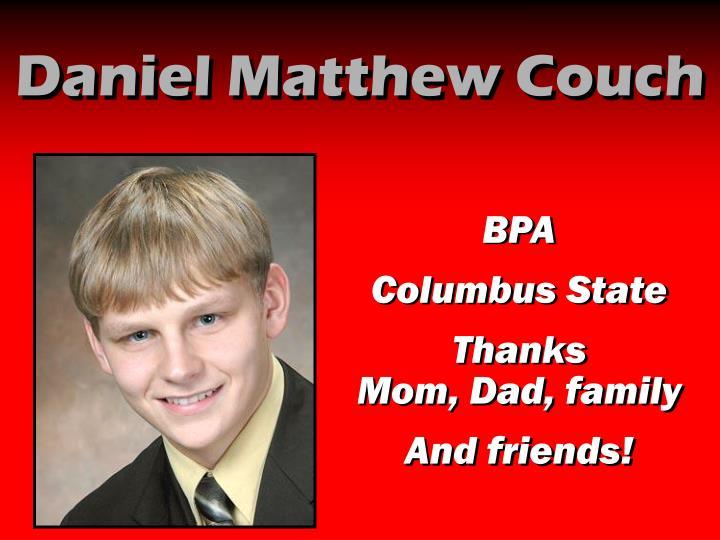 Daniel Matthew Couch