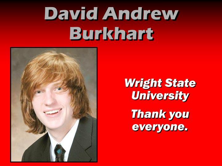 David Andrew Burkhart