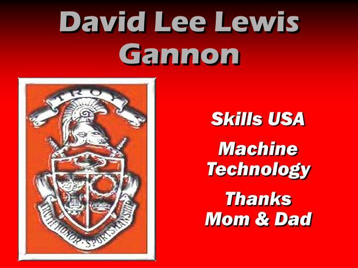 David Lee Lewis Gannon