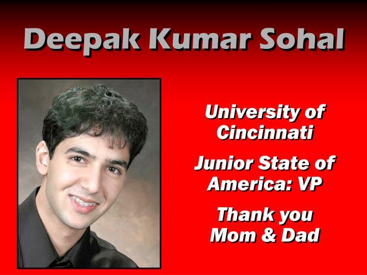 Deepak Kumar Sohal