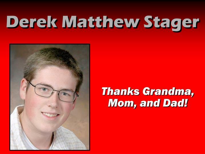 Derek Matthew Stager