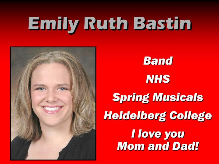 Emily Ruth Bastin