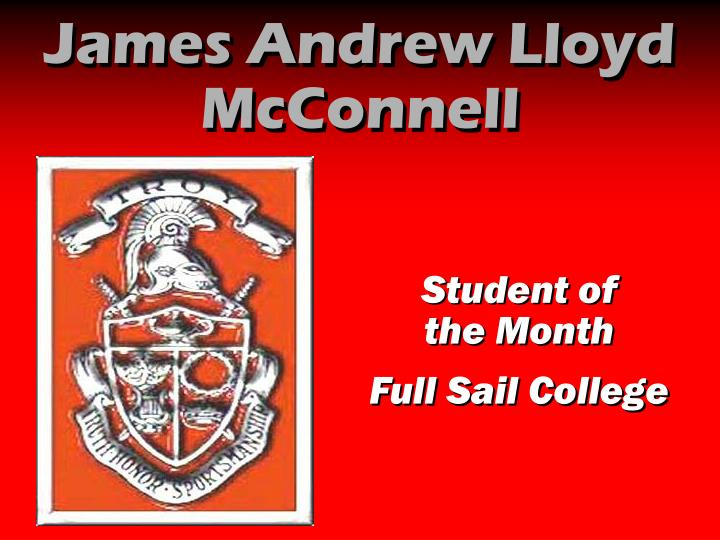 James Andrew Lloyd McConnell