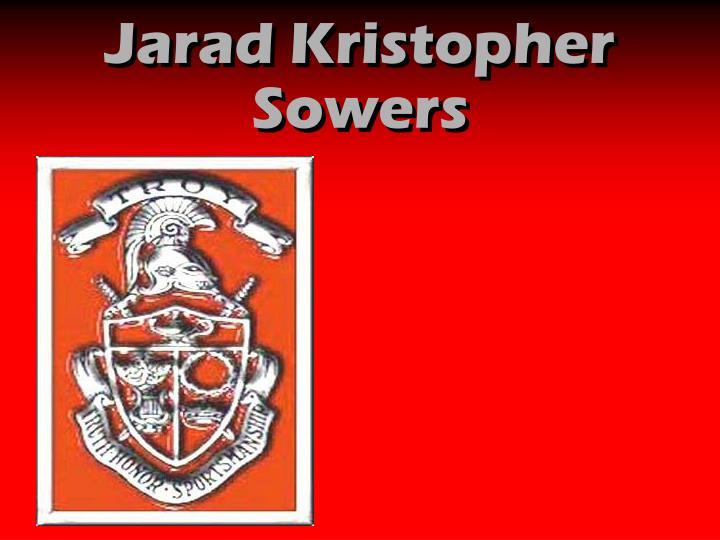 Jarad Kristopher Sowers