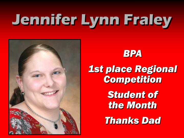 Jennifer Lynn Fraley