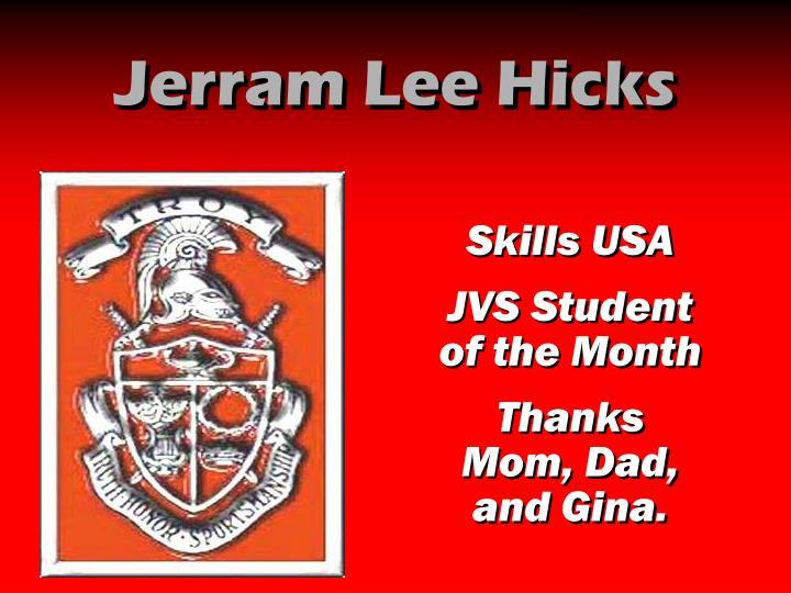 Jerram Lee Hicks