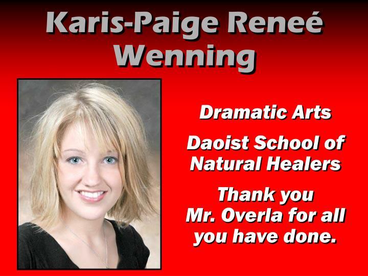 Karis-Paige Reneé Wenning