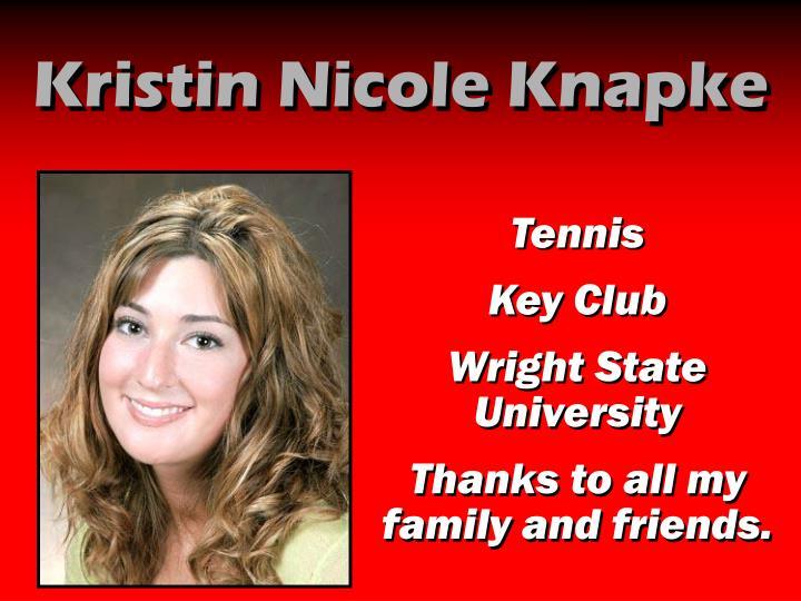 Kristin Nicole Knapke