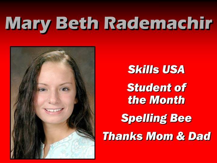 Mary Beth Rademachir