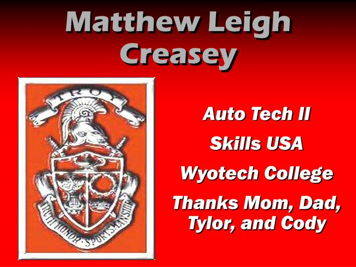 Matthew Leigh Creasey
