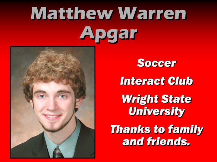 Matthew Warren Apgar