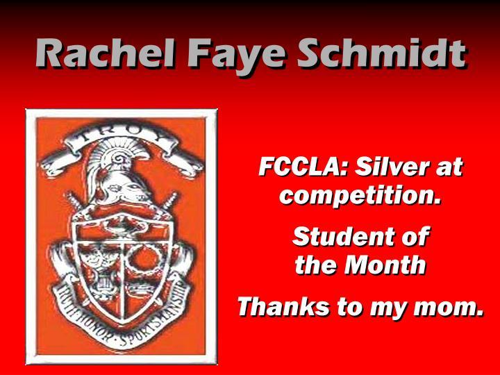 Rachel Faye Schmidt