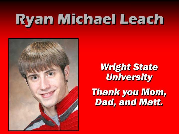 Ryan Michael Leach