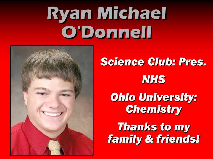 Ryan Michael O'Donnell