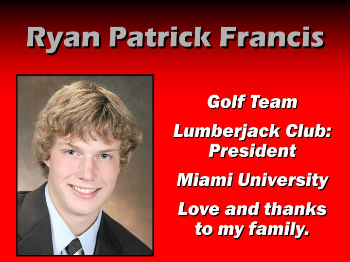 Ryan Patrick Francis