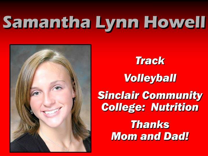 Samantha Lynn Howell