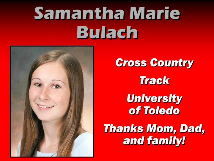 Samantha Marie Bulach