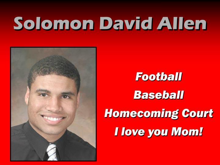 Solomon David Allen