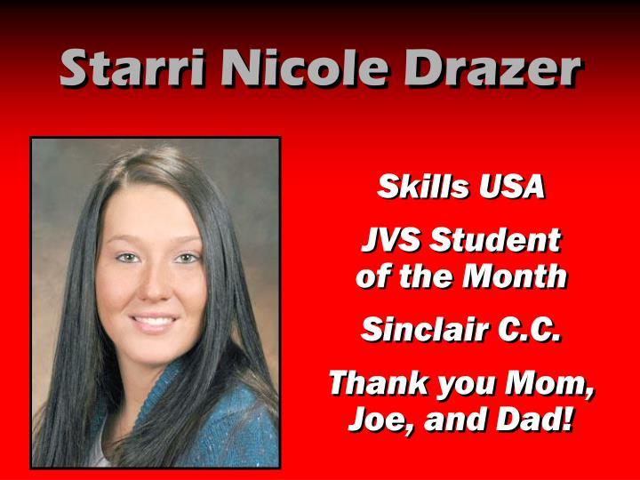 Starri Nicole Drazer
