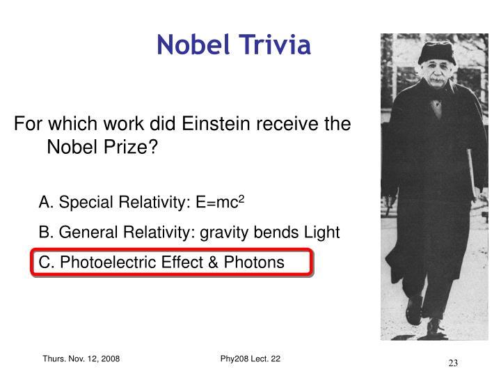 Nobel Trivia