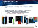 community data sets