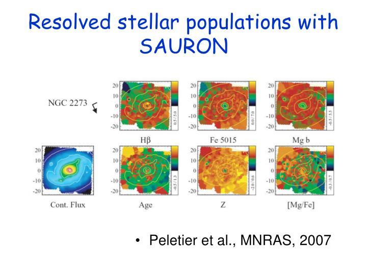 Resolved stellar populations with SAURON