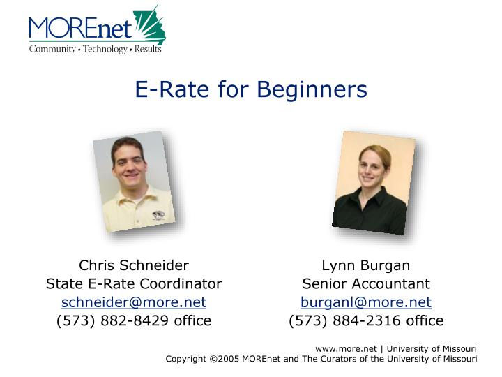 e rate for beginners n.