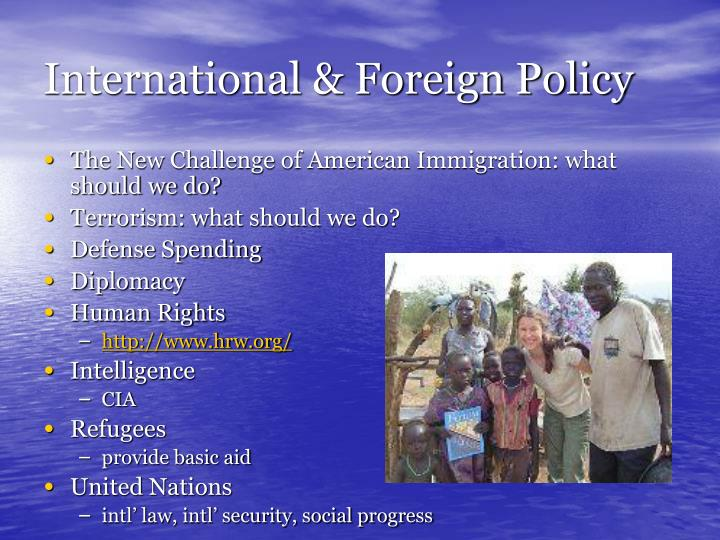 International & Foreign Policy