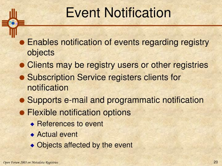 Event Notification