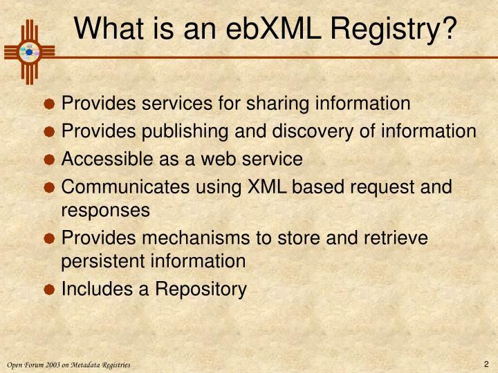 What is an ebxml registry