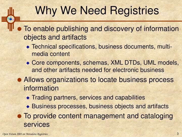 Why we need registries
