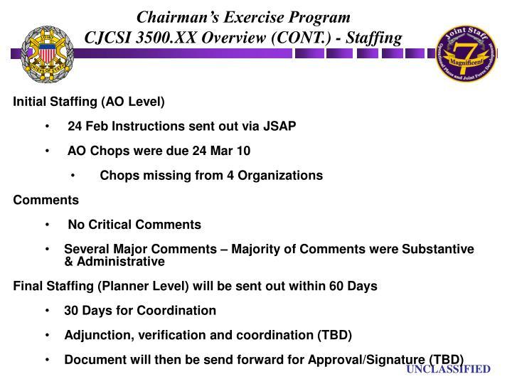 Chairman's Exercise Program