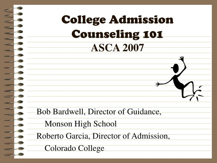 college admission counseling 101 asca 2007 n.