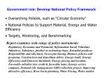 government role develop national policy framework