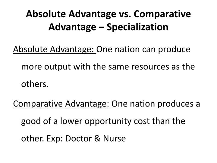 brazil absolute and comparative advantage 1 introduction this paper performs an empirical investigation of the sources of comparative advantages in brazil, based on the predictions of.