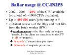 babar usage @ cc in2p3