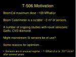t 506 motivation