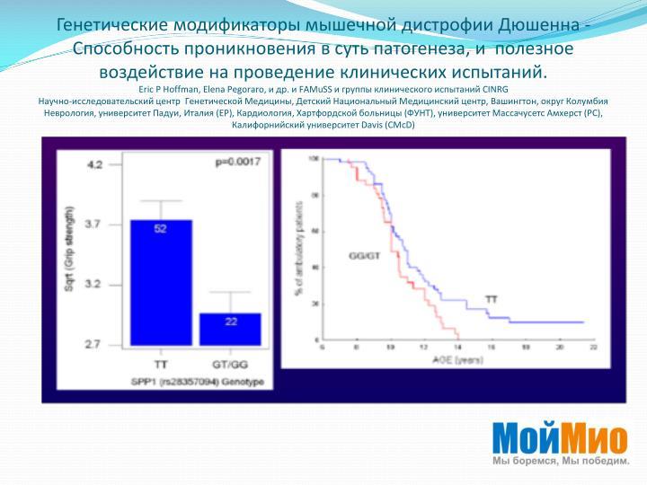 Генетические модификаторы мышечной дистрофии