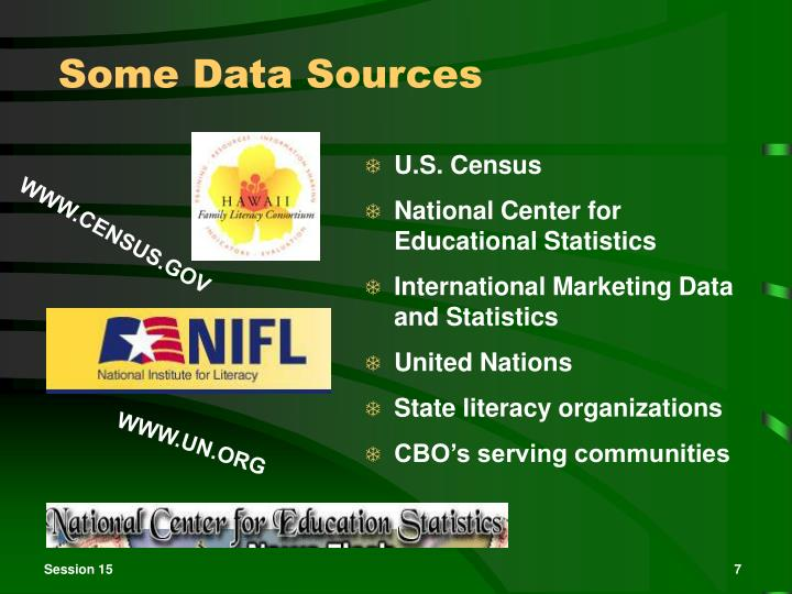 Some Data Sources