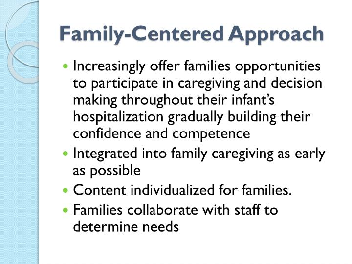 Family-Centered Approach