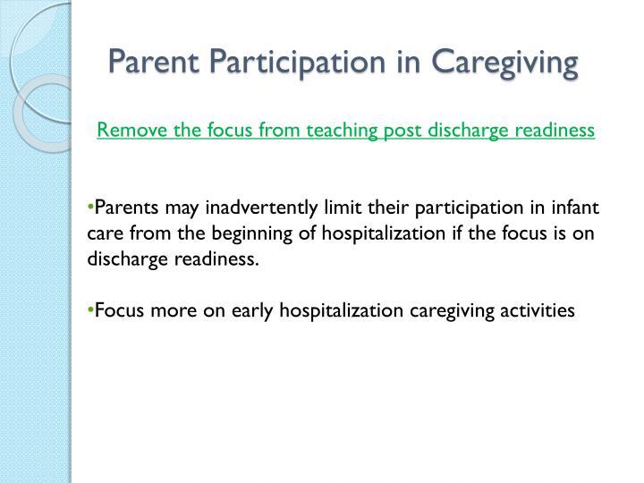 Parent Participation in Caregiving