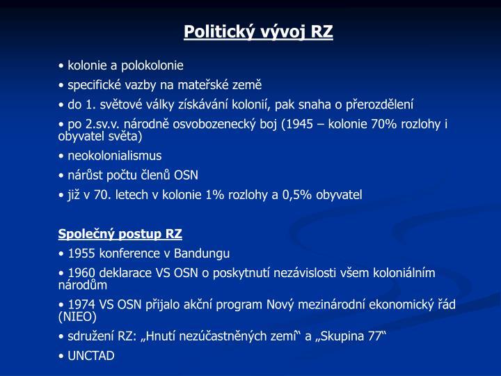 Politický vývoj RZ