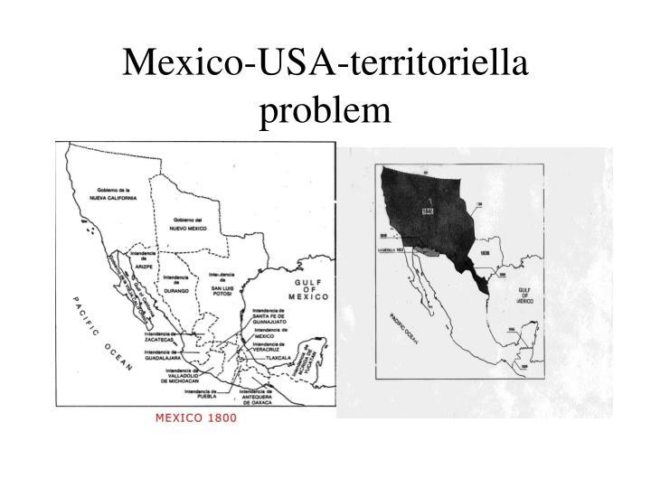 Mexico usa territoriella problem