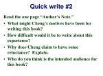quick write 2