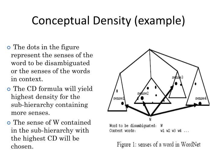 Conceptual Density (example)