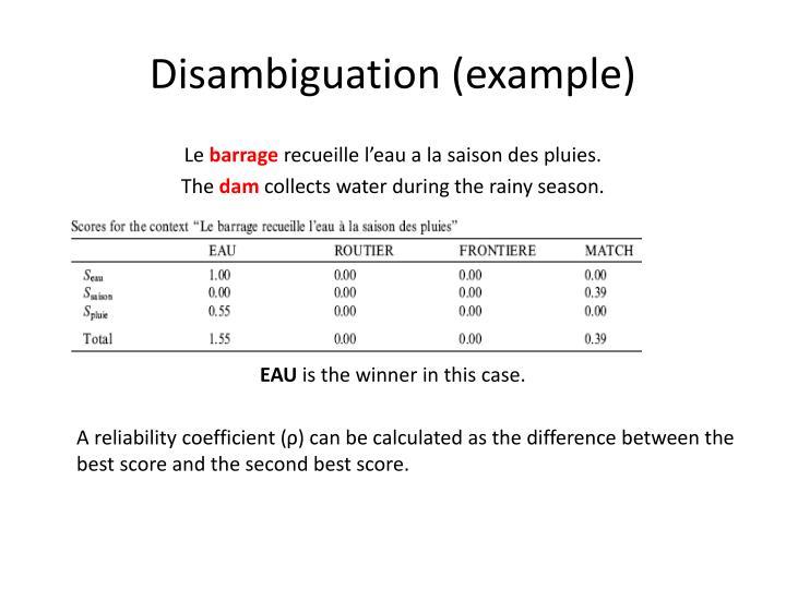 Disambiguation (example)