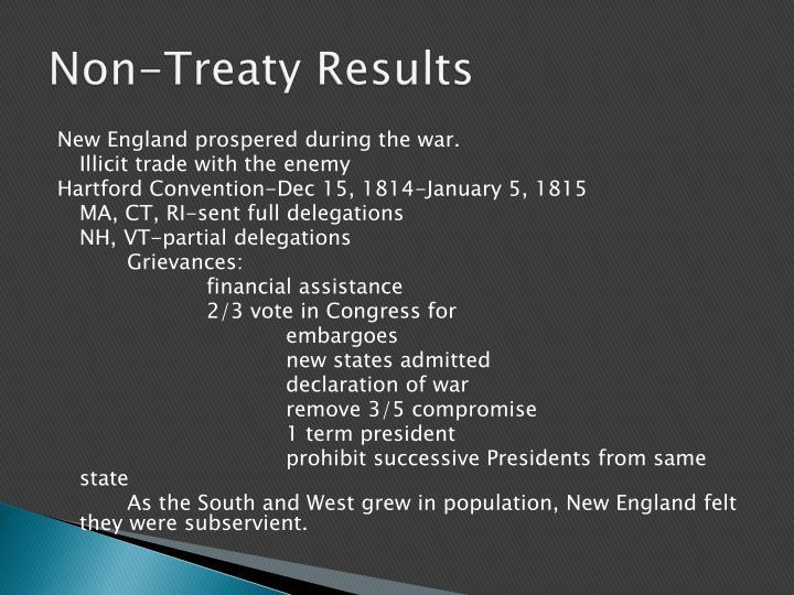 Non-Treaty Results